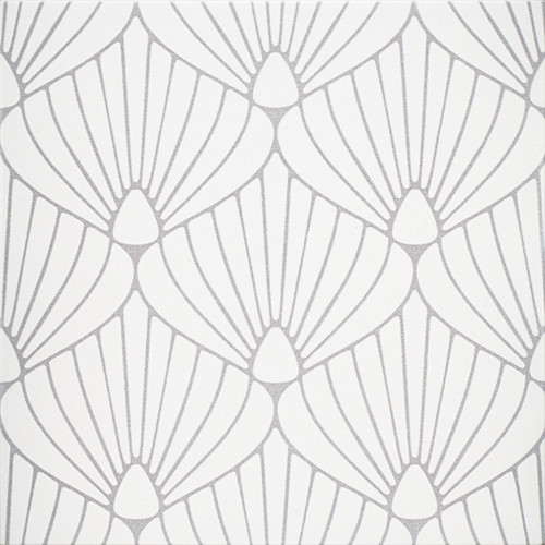 "Epic Porcelain Tile Collection Shell White Lavender 8""x8"" $8.99 Sq. Ft."