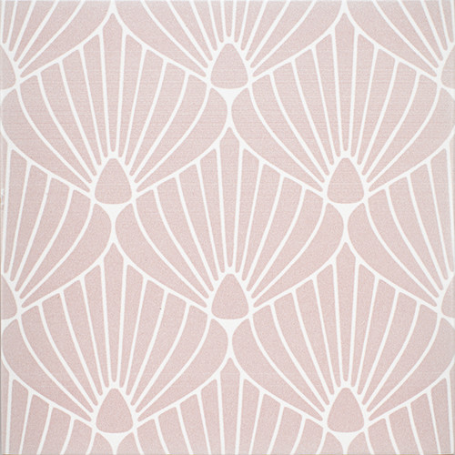 "Epic Porcelain Tile Collection Shell Pink White 8""x8"" $8.99 Sq. Ft."