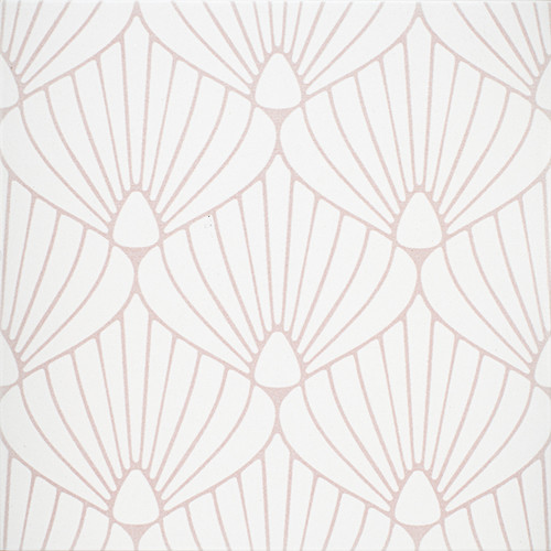 "Epic Porcelain Tile Collection Shell White Pink 8""x8"" $8.99 Sq. Ft."