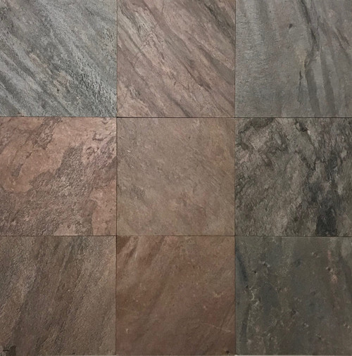 SL-43H Copper Slate Honed 12x12