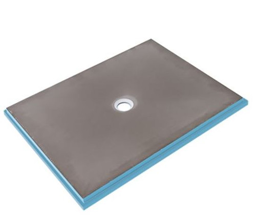 """Wedi Fundo Primo® Shower Base 36 in. x 48 in. Center Drain 073735516  Shower installations have never been simpler than with the Wedi Fundo Primo shower base center drain. This 36"""" x 48"""" shower floor base is not only waterproof and mold resistant, it's also pre-sloped and features a centrally positioned drain. The innovative design eliminates the time consuming steps and expensive products traditionally involved in typical mortar bed, semi pre-fabricated sheet or liquid membrane system installations."""