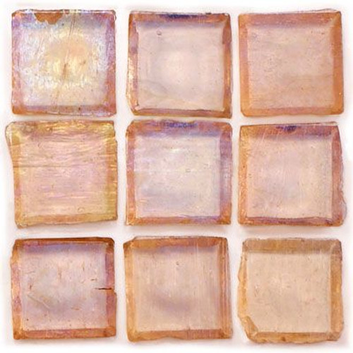 "Ginger Tea 1""x1"" Iridescent Glass Mosaic"