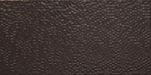 3D Hexagon Collection: Black 12x24 Wall Tile