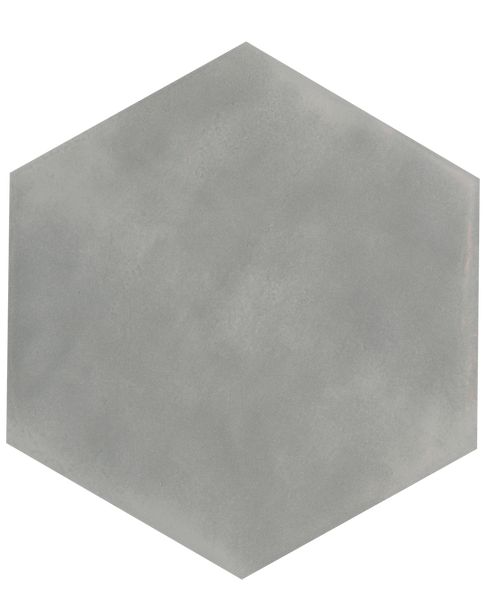 "Manzanita Tender Gray Gloss 7""x8"" Hexagon Ceramic Wall Tile"