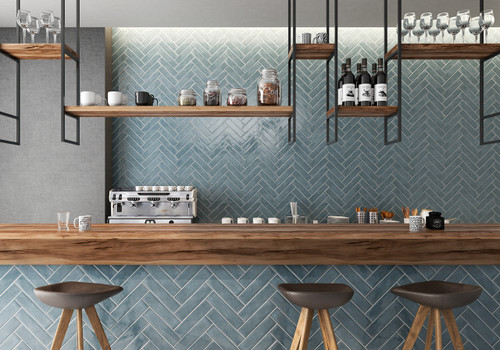 Manzanita Blue Steel Crackle 3x12 Wall Tile