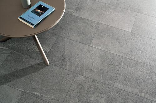 Burlington Dark Gray 6x33, 12x24, 2x2 Mosaics, Matching Bullnose
