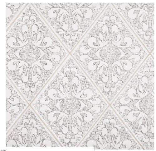 Drawn Stone Diamond – Loom Drawn Stone Decorative – 6 in. x 7.9375 in. x 9.5 mm