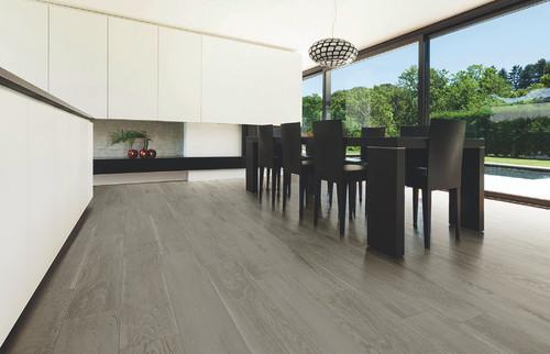 Lignum Grey 2x2 Mosaic, 8x48 Field Tile, 4x48 Bullnose