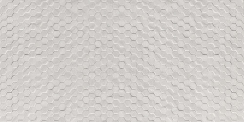 3D Hexagon White 12x24 Wall Tile