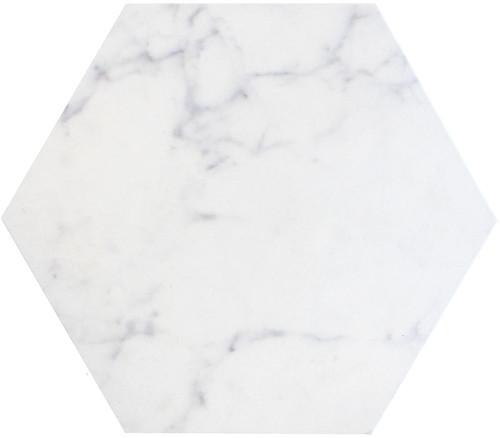 Di Cava Carrara 14x16 Hexagon Tiles