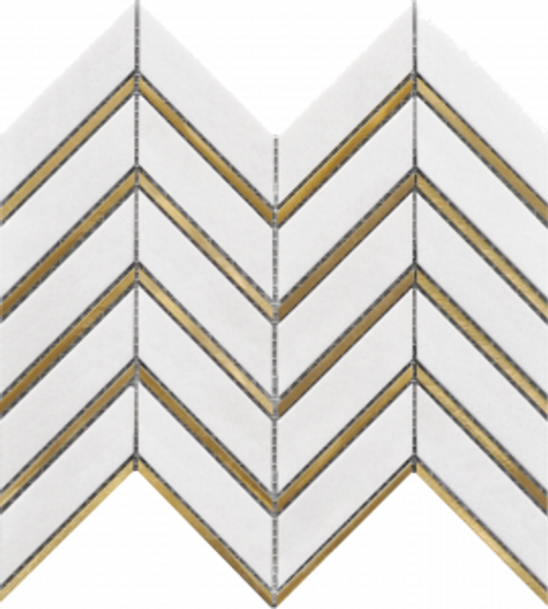 Tassos Arrows Metal 12″x12″ Mosaic