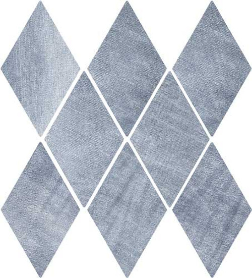 "DENIM 5,5""x9,5"" Washed Blue Diamond Tiles (Different colour shades randomly mixed within the box)"