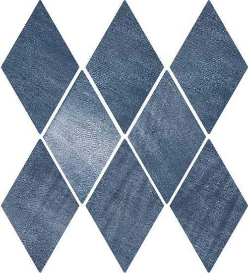 "DENIM 5,5""x9,5"" Indigo Diamond Tiles (Different colour shades randomly mixed within the box)"