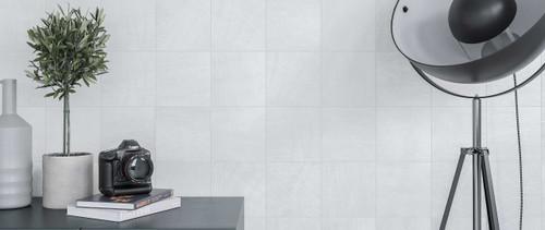 "DENIM 5.5""x5.5"" White Square Tiles"