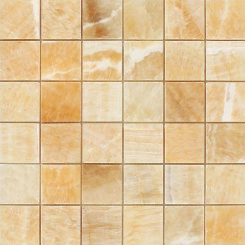 Butterscotch Honey Onyx Polished 2x2 Mosaics Only $9.99 /sf!