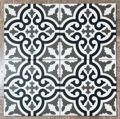 Stencil Collection  Blues 8x8 Encaustic Tiles