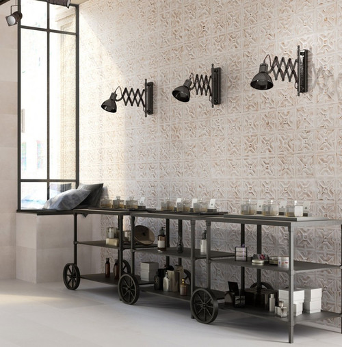 TRACK BIANCO 12X36 ART DECO WALL TILES