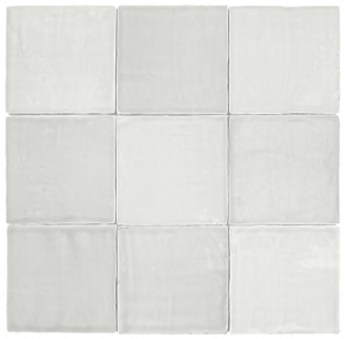 "Mediterranea Blanco Gloss 5""x5"" Ceramic Wall Tiles"