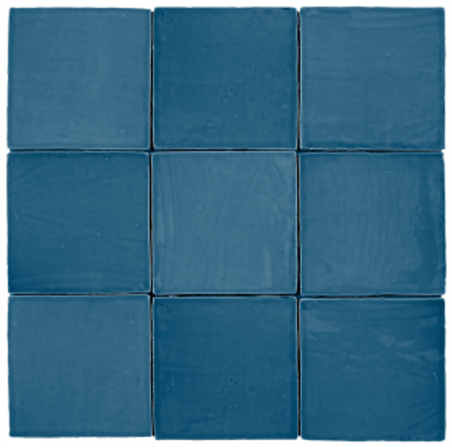 "Mediterranea Azul Gloss 5""x5"" Ceramic Wall Tiles"