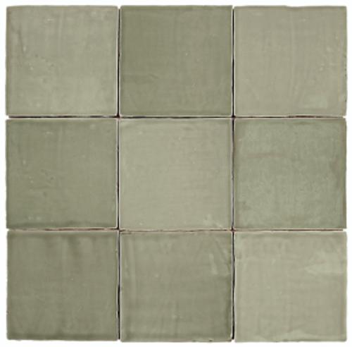 "Mediterranea Verde Gloss 5""x5"" Ceramic Wall Tiles"