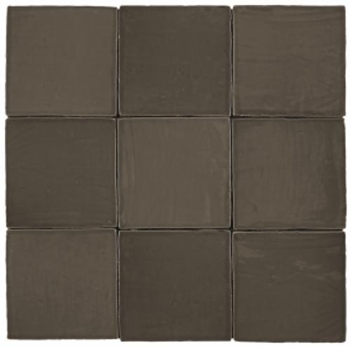 "Mediterranea Bronce Gloss  5""x5"" Ceramic Wall Tile"