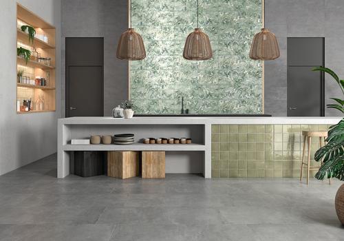 "Mediterranea Verde Gloss 5""x5"" Ceramic Wall Tile"
