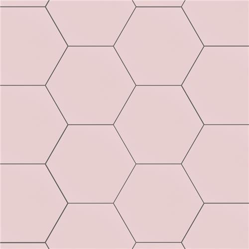 "Chromatic Pink 8""x9"" Hexagon Tiles"