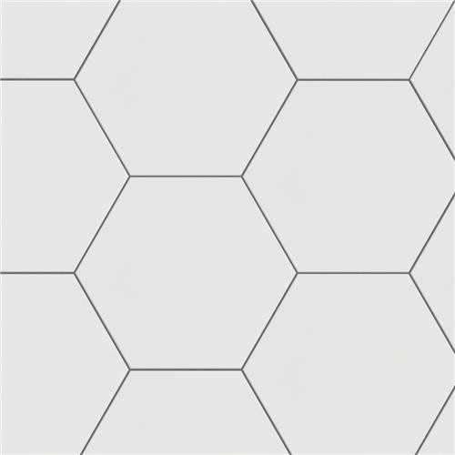 "Chromatic White 8""x9"" Hexagon Tiles"