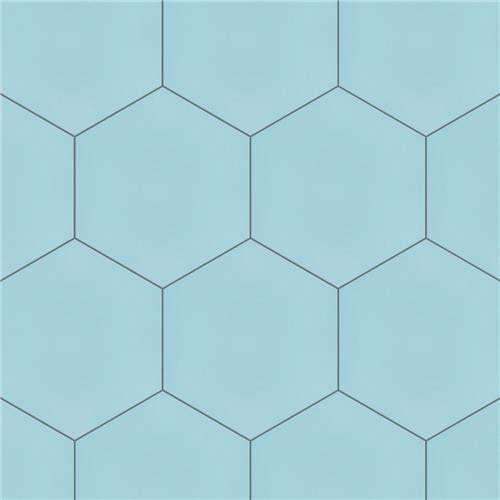 "Chromatic Sky 8""x9"" Hexagon Tiles"