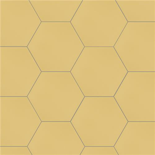 "Chromatic Yellow 8""x9"" Hexagon Tiles"