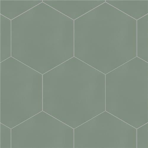 "Chromatic Sage 8""x9"" Hexagon Tiles"