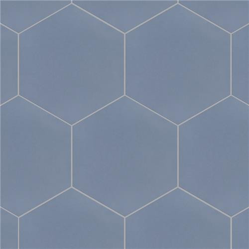 "Chromatic Blue 8""x9"" Hexagon Tiles"