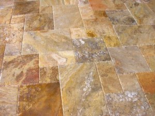 Volcano Brushed, Chiseled, & Unfilled Versailles Pattern