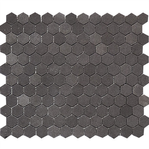 "Basalt Gray Honed 1"" Hexagons"