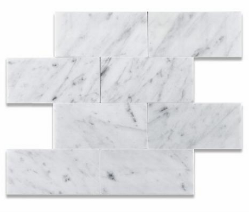 Carrara White Honed 3x6 Subway Tiles