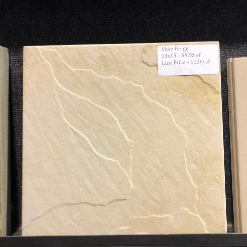 Slate Beige 13x13 Porcelain Tiles $1.99 Sq. Ft!