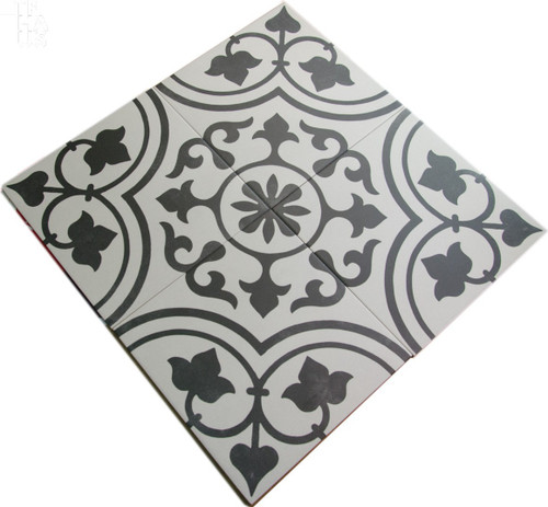 Cuban White Ornate 9x9 Tiles
