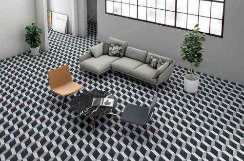 Cuban Block Tiles 9x9  Tiles