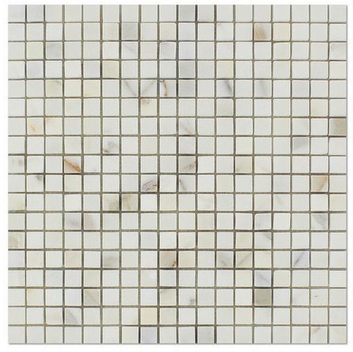 "Calacatta Gold Honed 5/8""x5/8"" Square Mosaic"