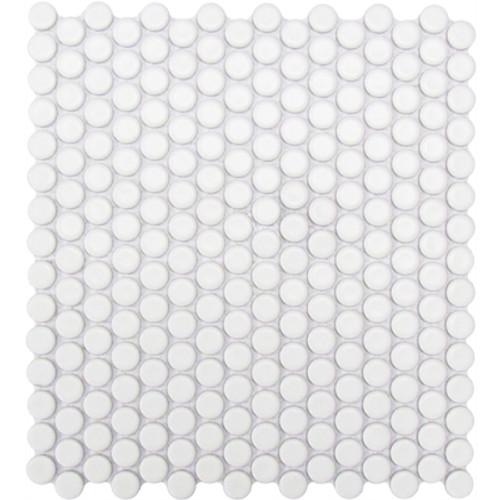 Alameda White Matte Pennyround Mosaics