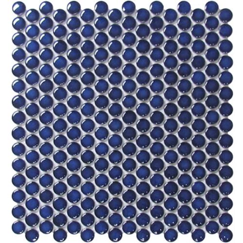 Alameda Cobalt Gloss Pennyround Mosaics