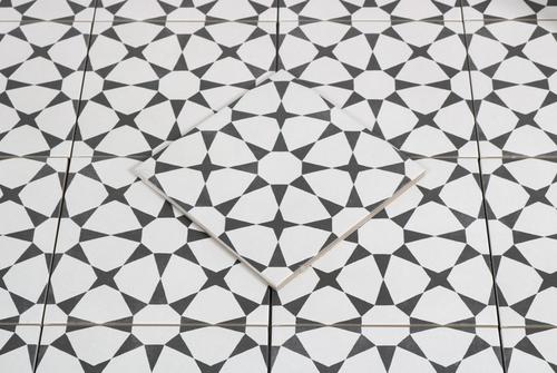 Cuban White Star 9x9 Floor & Wall Tile