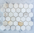 "Calacatta Gold 2""  Hexagon Mosaic Tile on 12""x12"" Mesh"