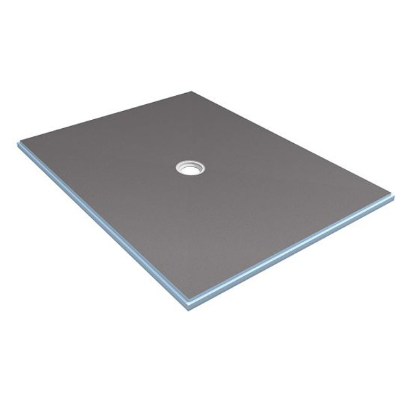 Wedi Fundo Primo Shower Floor Base with Center Drain 48 in. x 60 in.