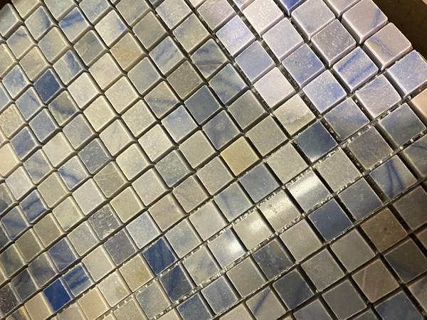 Azul Macauba Polished 5/8x5/8 Square Mosaics