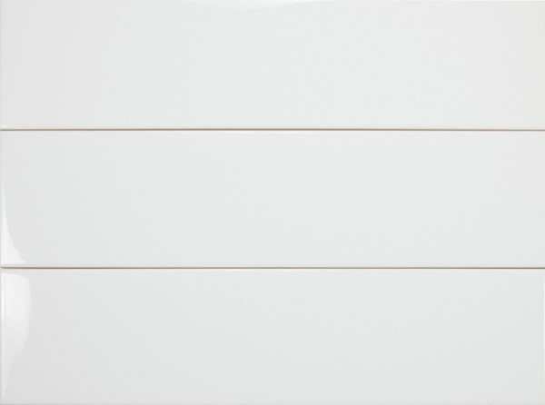 "Color Collection Ice White Gloss 4""x16"""