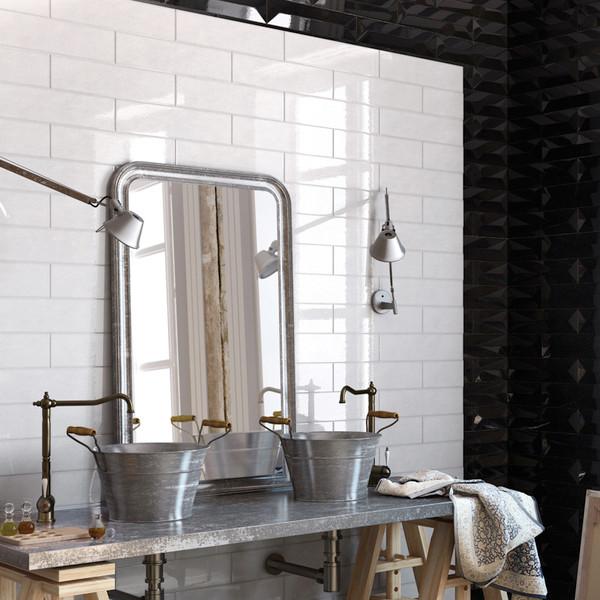 Imagine 4″X16″ Wall Tile – Basic White Gloss Ceramic Wall Tiles