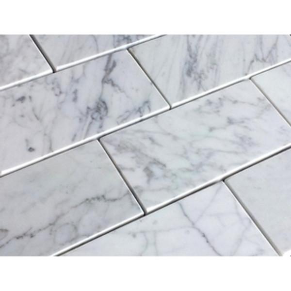 Carrara Honed 3x6 Subway Tiles