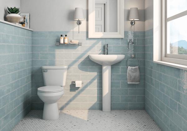 Manzanita Aqua Gloss 4x10 Ceramic Wall Tile