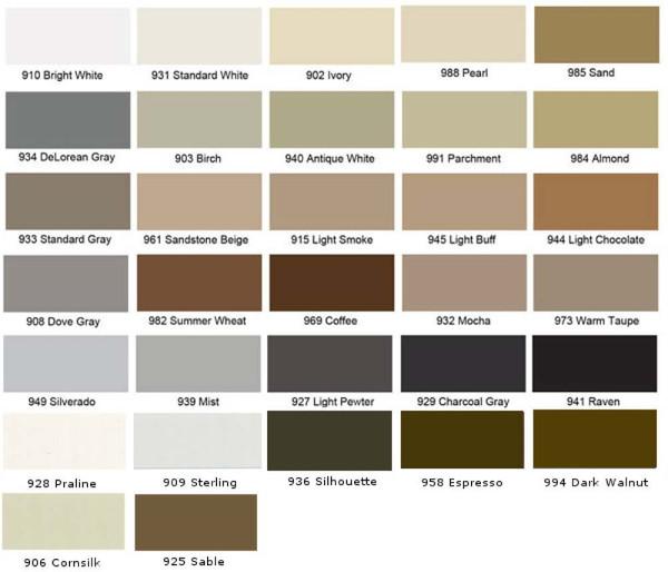Tec Grout Colors